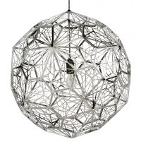 Etch Web Suspension Lamp - Ø 60 cm Polished Steel Tom Dixon Tom Dixon