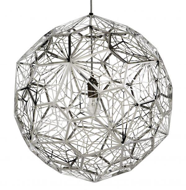 Etch Web Lamp Suspension - Ø 60 cm Στιλβωμένο Χάλυβα Tom Dixon Tom Dixon