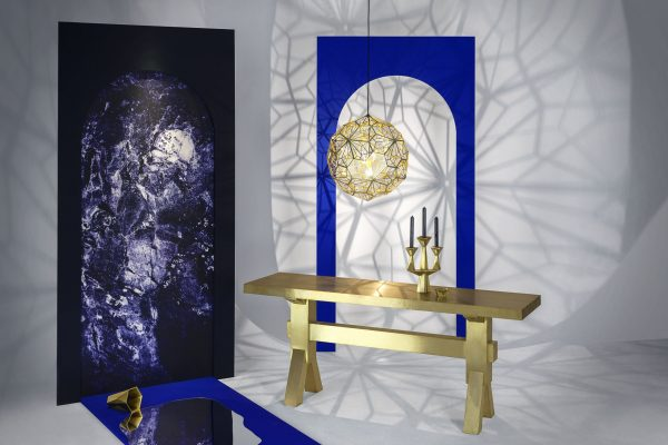 Lampada A Sospensione Etch Web - Ø 60 cm Ottone Tom Dixon Tom Dixon