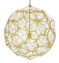 Etch Web Hanging Lamp - Ø 60 cm Brass Tom Dixon Tom Dixon