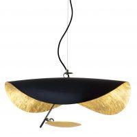 Lampada A Sospensione Lederam Manta S1 / LED - Ø 60 cm Nero|Oro Catellani & Smith Enzo Catellani