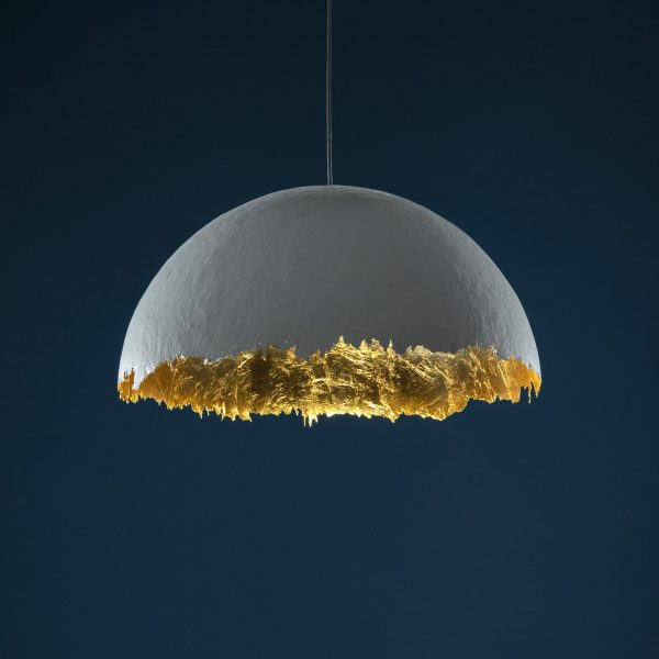 PostKrisi 49 Suspension Lamp - / Ø 60 cm White | Gold Catellani & Smith Enzo Catellani