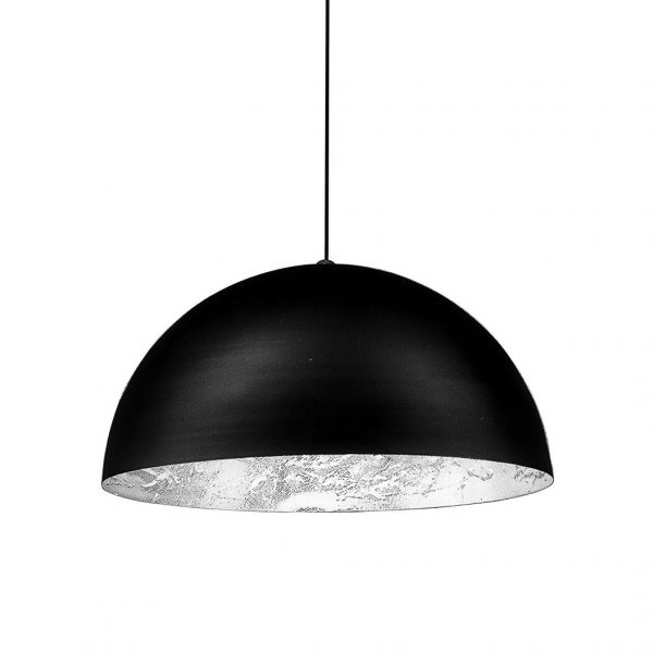 Lámpara de suspensión Stchu-Moon 02 - / LED - Ø 60 cm Negro | Plata Catellani & Smith Enzo Catellani