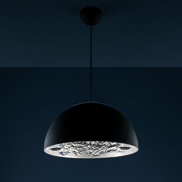 Lámpara de suspensión Stchu-moon 02 - Ø 40 cm Plata | Negro Catellani & Smith Catellani & Smith