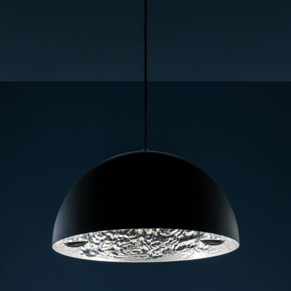 Lampada A Sospensione Stchu-moon 02 - Ø 60 cm Argento|Nero Catellani & Smith Catellani & Smith