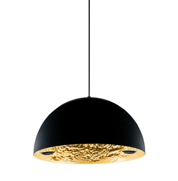 Stchu-moon 02 Suspension Lamp - Ø 60 cm Black | Gold Catellani & Smith Catellani & Smith