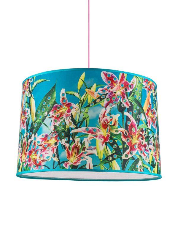 Toilettenpapier Pendelleuchte - Blume mit Löchern - Ø 52 cm Mehrfarbig Seletti Maurizio Cattelan | Pierpaolo Ferrari