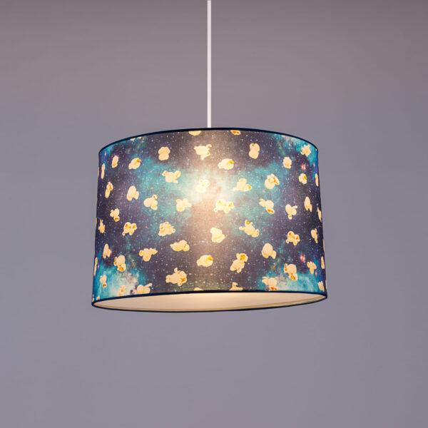 Lampada A Sospensione Toiletpaper - Popcorn - Ø 52 cm Multicolore Blu Seletti Maurizio Cattelan Pierpaolo Ferrari