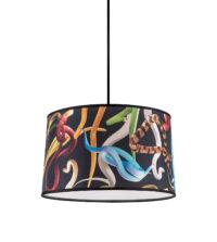 Lampada A Sospensione Toiletpaper - Snakes - Ø 39 cm Multicolore|Nero Seletti Maurizio Cattelan|Pierpaolo Ferrari