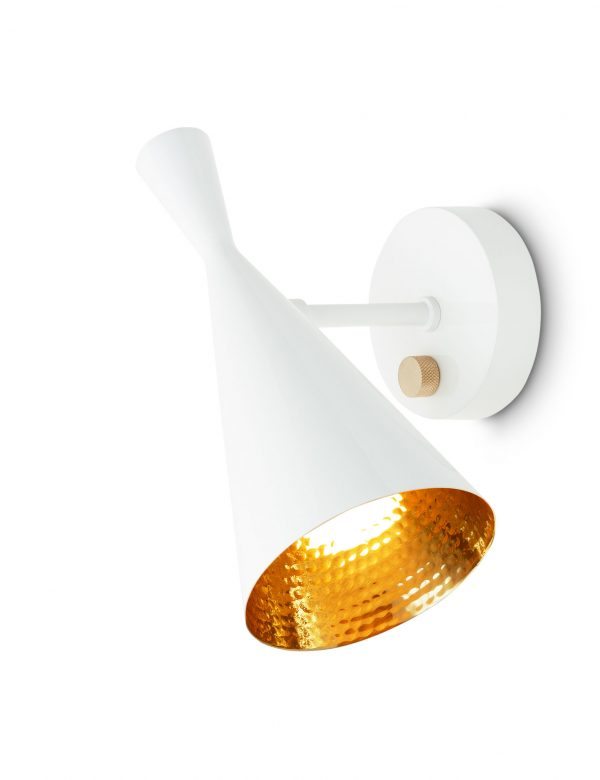 Wall Lamp Beat Reglabl Bright White Brass Tom Dixon Tom Dixon