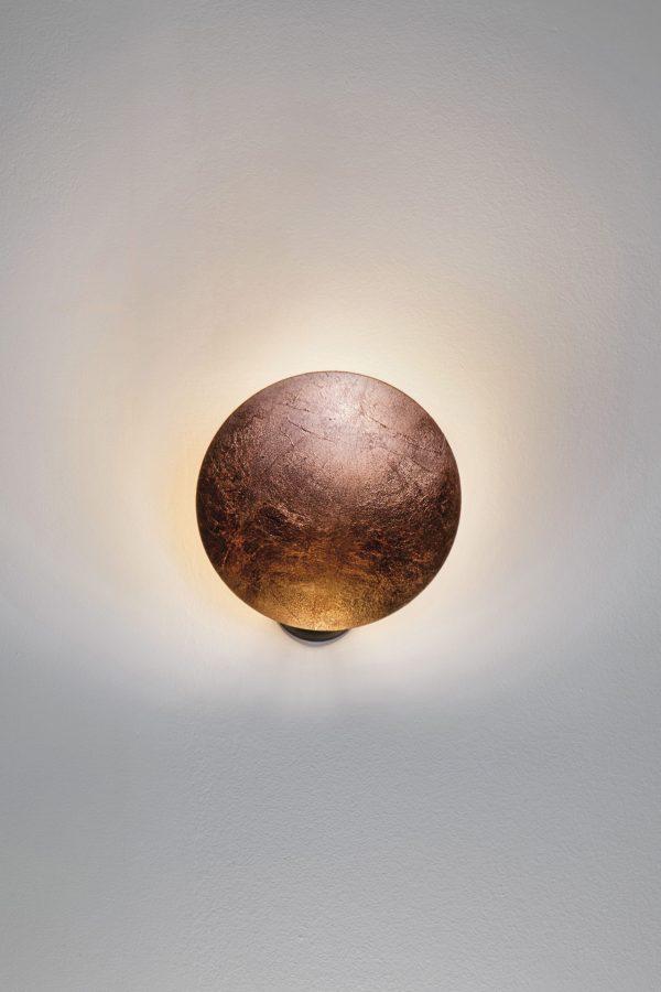 Lederam W1 Wall Lamp / LED - 1 adjustable disc Ø 25 cm Copper Catellani & Smith Enzo Catellani