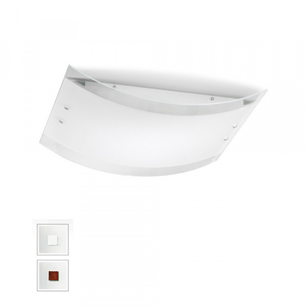 Mille LED Wall Lamp AP PL M White | Nickel | Red Linea Light Group Centro Design LLG