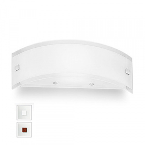 Mille LED Wall Lamp AP XS White | Nickel | Red Linea Light Group Centro Design LLG