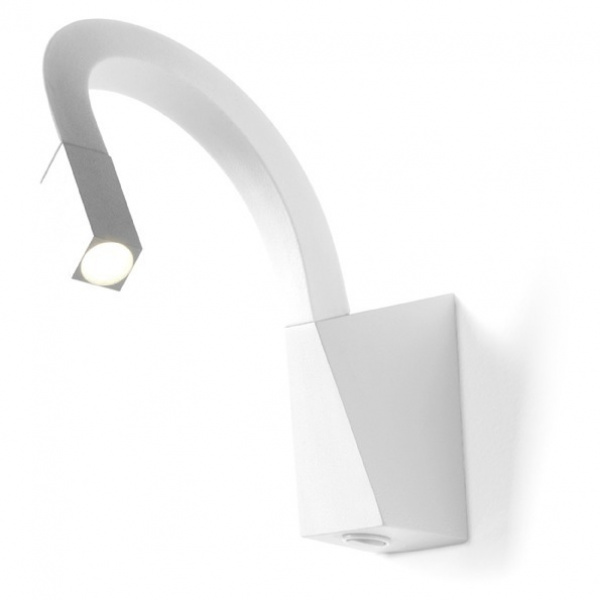 Candeeiro de parede LED Snake para mesa de cabeceira, com interruptor White Linea Light Group Centro Design LLG