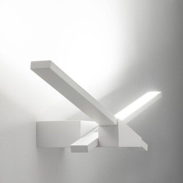 Λάμπα τοίχου S λευκά φτερά Linea Light Ομάδα Edin Ντέντοβιτς