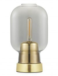 Amp Table Lamp Brass | Smoke gray Normann Copenhagen Simon Legald
