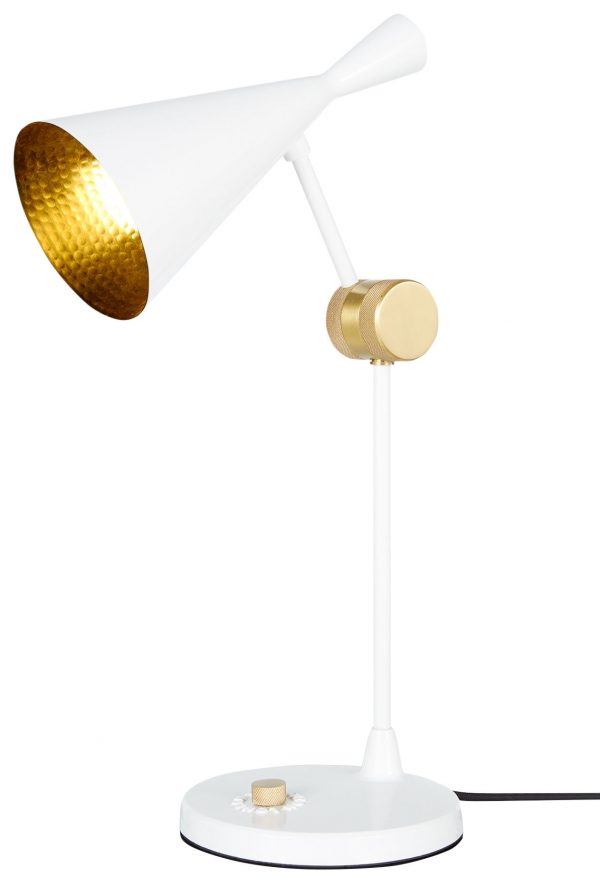 Table Lamp Beat H 48 cm Bright white | Brass Tom Dixon Tom Dixon