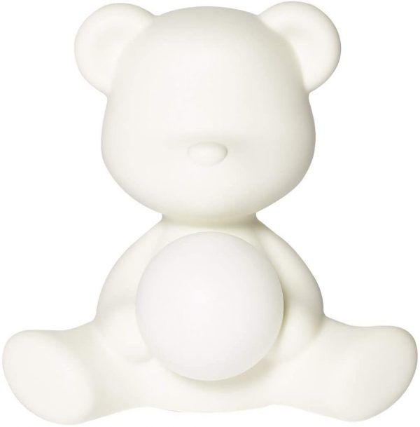 Lampe de table sans fil Teddy Girl Blanc Qeeboo Stefano Giovannoni 1