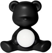 Wireless Table Lamp Teddy Girl Black Qeeboo Stefano Giovannoni 1