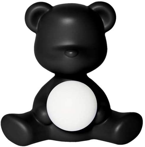 Lampe de table sans fil Teddy Girl Noir Qeeboo Stefano Giovannoni 1