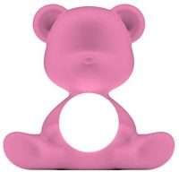 Wireless Table Lamp Teddy Girl Bright Pink Qeeboo Stefano Giovannoni 1