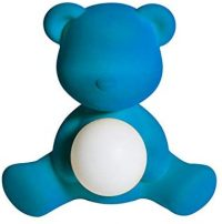 Lampe de table sans fil Teddy Girl finition velours Fuchsia Qeeboo Stefano Giovannoni 1