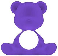 Lampe de table sans fil Teddy Girl Violet Qeeboo Stefano Giovannoni 1