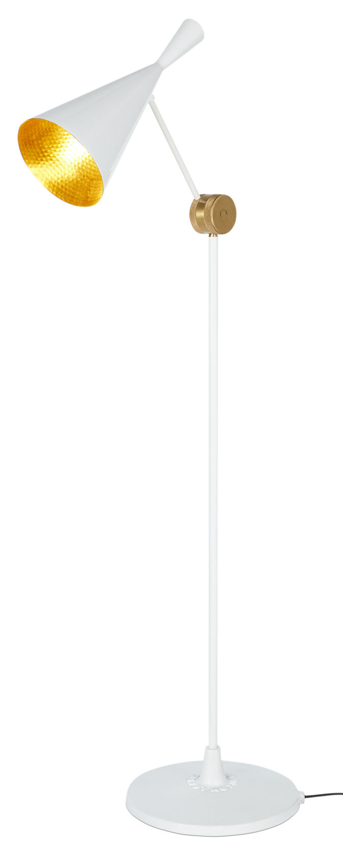 Lampadaire Beat H 157 cm Blanc brillant Tom Dixon Tom Dixon
