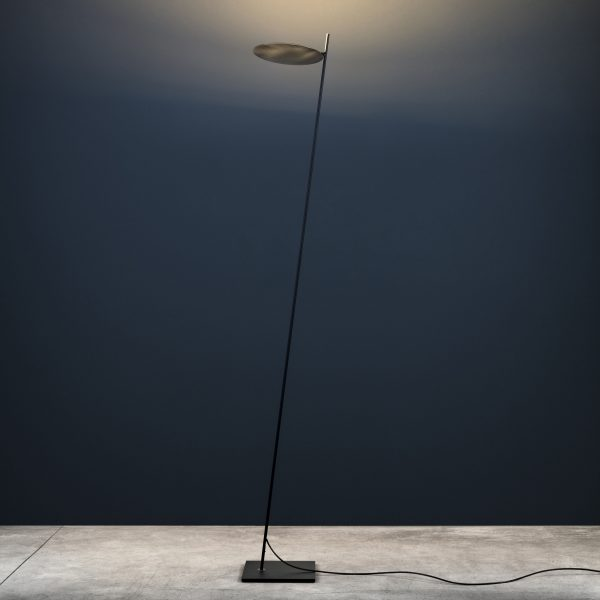 Lederam Lampadaire F0 - / LED - H 190 cm Noir | Catellani & Smith Laiton Enzo Catellani