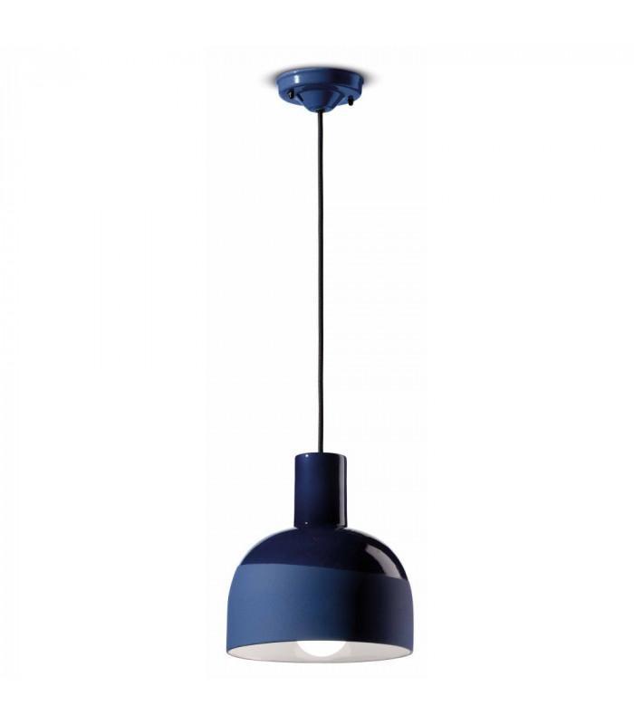 Lampe à Suspension Caxixi C2400 Bleu Cobalt Ferroluce 1