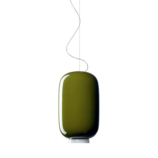 Chouchin Mini 2 SP Lámpara de suspensión Verde Foscarini Ionna Vautrin 1
