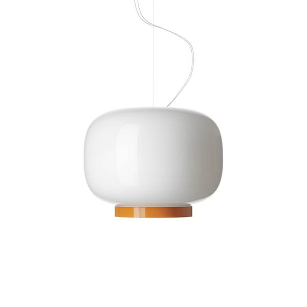 Chouchin Reverse 1 SP Suspension Lamp White | Orange Foscarini Ionna Vautrin 1
