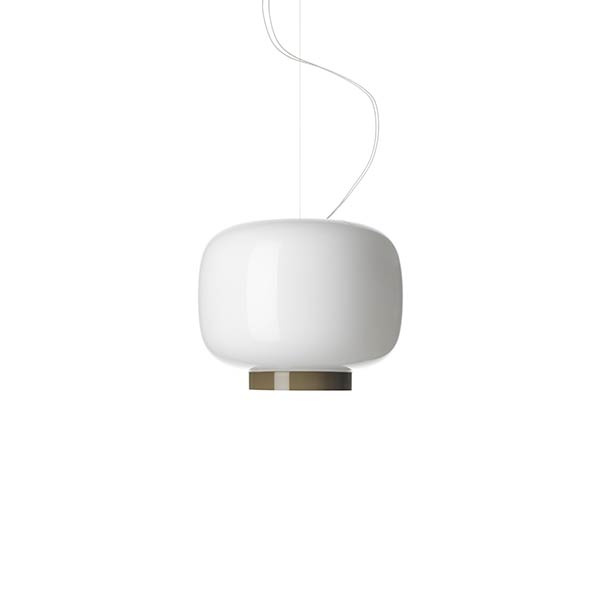 Lámpara de suspensión Chouchin Reverse 3 SP LED Blanco | Gris Foscarini Ionna Vautrin 1