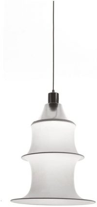 Falkland Suspension Lamp H 53 cm White | Aluminum ARTEMIDE Bruno Munari 1