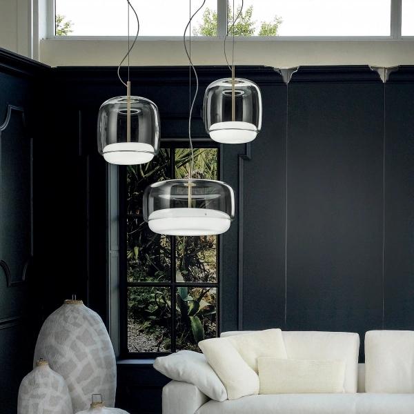 Lampe à Suspension Jube SP L LED Marron Vistosi Favaretto & Partners 2