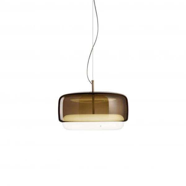 Lampe à Suspension Jube SP L LED Marron Vistosi Favaretto & Partners 1