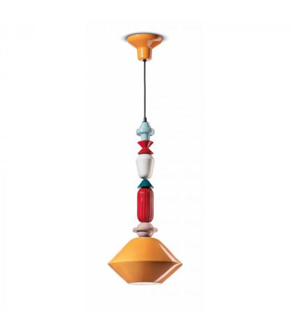 Lampada a Sospensione Lariat C2512 Giallo|Multicolore Ferroluce  1