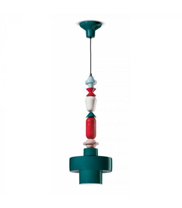 Lámpara de suspensión Lariat C2531 Petroleum Green | Multicolor Ferroluce 1