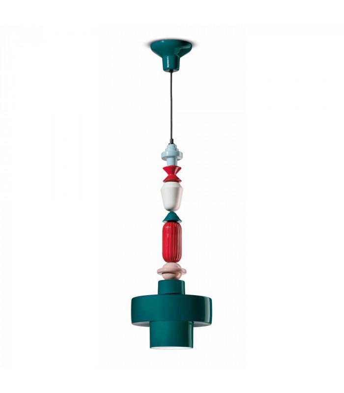 Lampe à Suspension Lariat C2531 Vert Pétrole | Multicolore Ferroluce 1