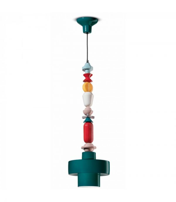 Sispansyon lanp Lariat C2532 petwòl vèt | Multicolor Ferroluce 1