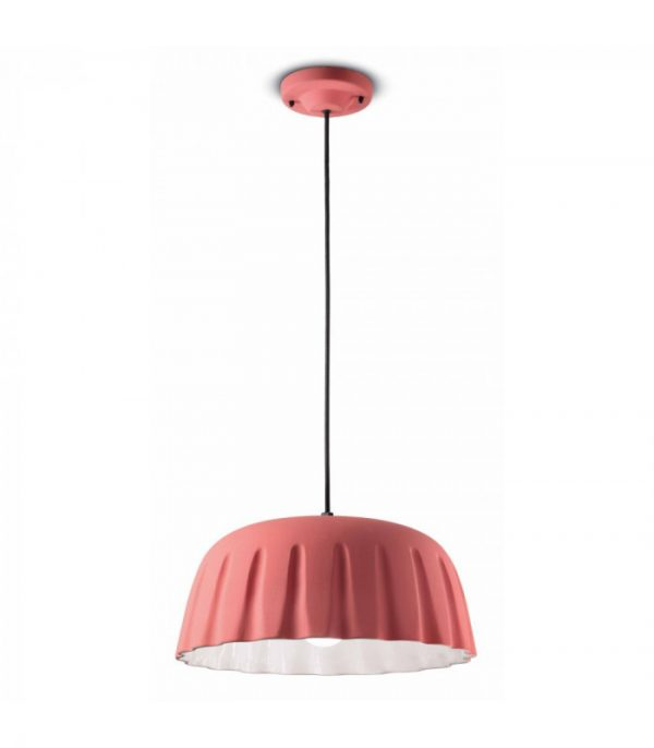 Lanp Sispansyon Madame Gres C2570 Coral Pink Ferroluce 1