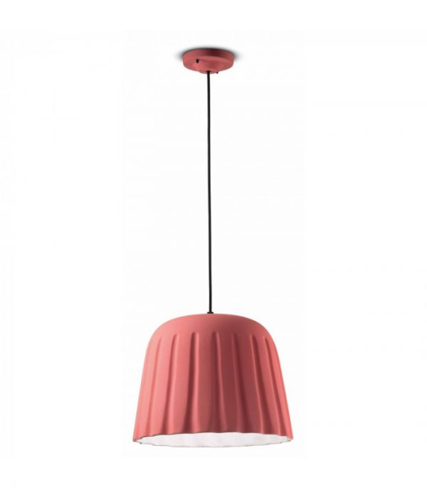 Suspension Lamp Madame Gres C2571 Coral Pink Ferroluce 1