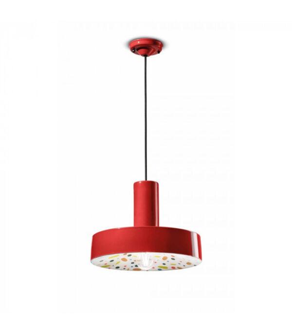 Lâmpada de suspensão PI C2503 Vermelho | Multicolor Ferroluce 1