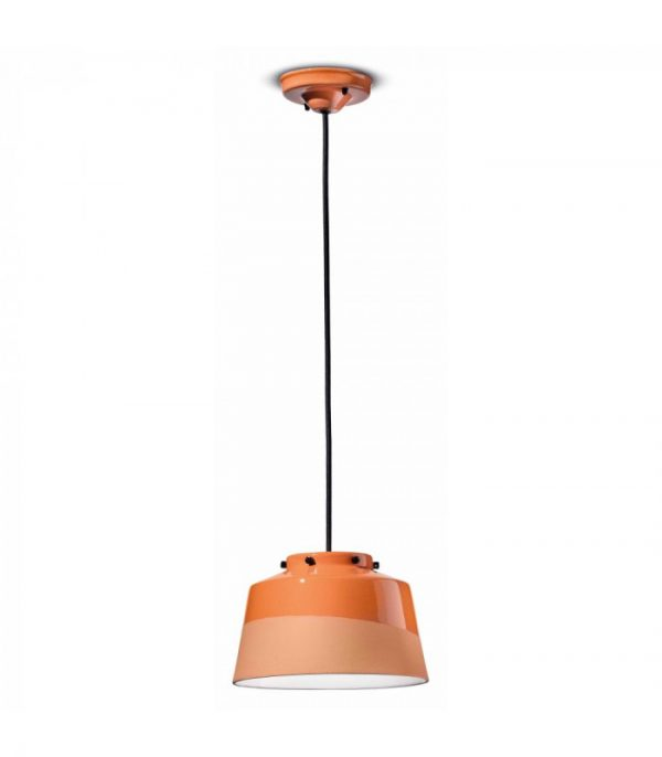 Quindim C2000 Peach Orange Suspension Lamp by Ferroluce 1