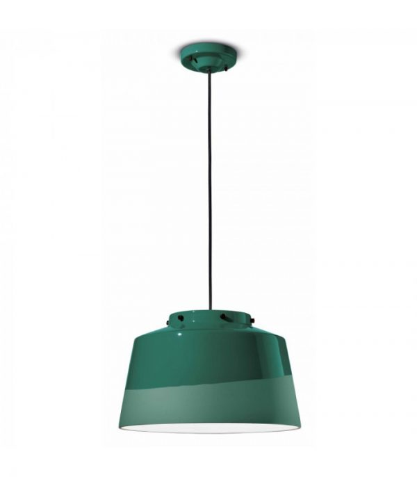 Quindim C2001 Bottle Green Suspension Lamp by Ferroluce 1