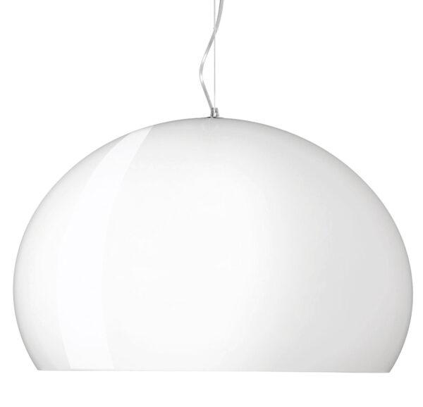 Lampada a sospensione Big FL/Y - Ø 83 cm Bianco opaco brillante Kartell Ferruccio Laviani 1