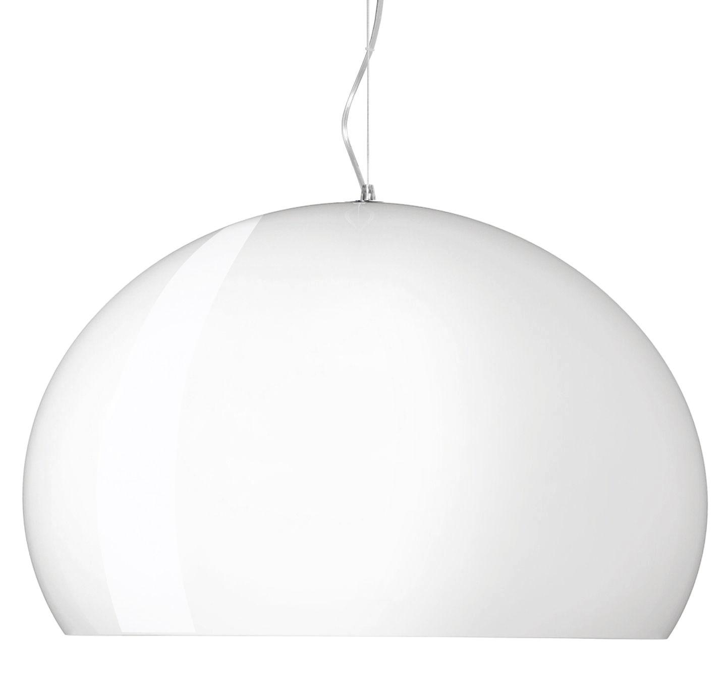 Lampe à suspension Big FL / Y - Ø 83 cm Blanc mat brillant Kartell Ferruccio Laviani 1