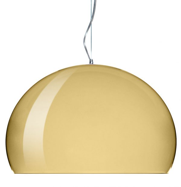 Suspension lamp Big FL / Y - Ø 83 cm Gold Kartell Ferruccio Laviani 1