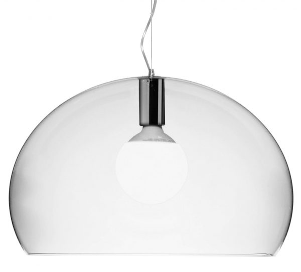Suspension lamp Big FL / Y - Ø 83 cm Transparent Kartell Ferruccio Laviani 1