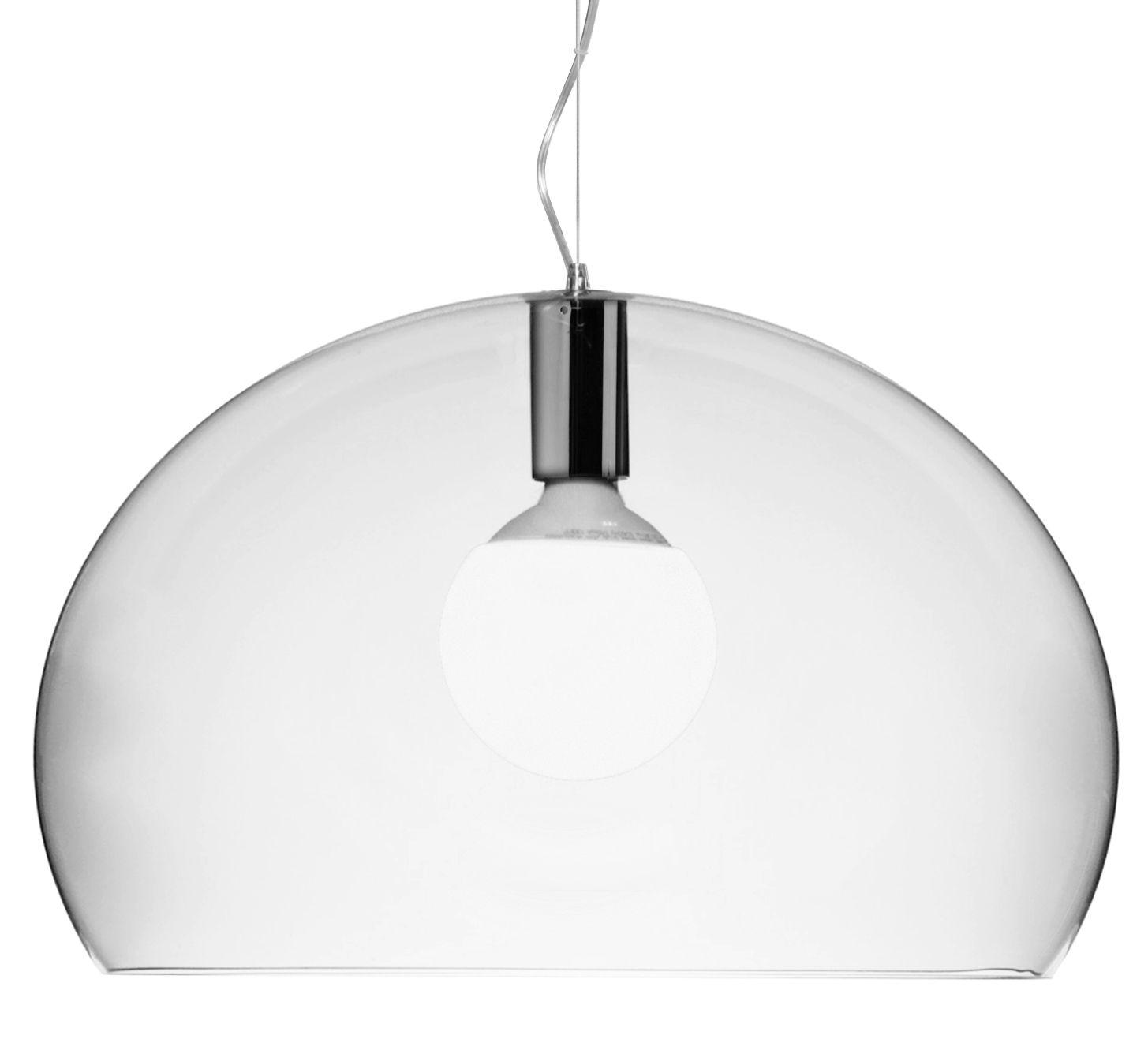 Suspension lamp Big FL / Y - Ø 83 cm Transparent Kartell Ferruccio Laviani 1